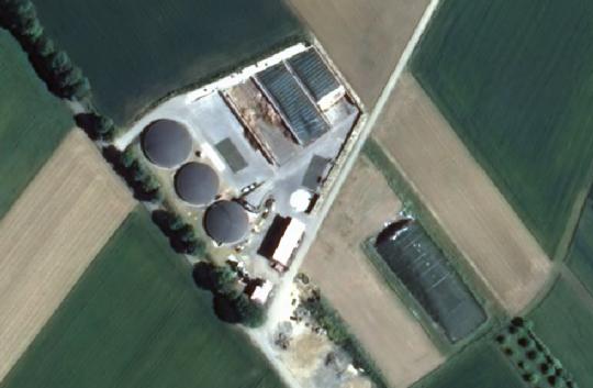 Luftbilder der Biogasanlage Mardorf im Bau